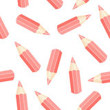Seamless pencil Royalty Free Stock Images