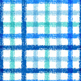 Seamless pencil sketch plaid pattern with colorful stripes. Vect Royalty Free Stock Images