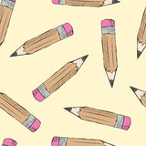 Seamless pencils Royalty Free Stock Photos
