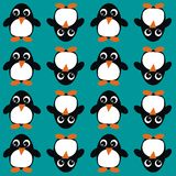 Seamless penguin pattern Stock Images