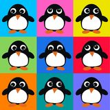 Seamless penguin pattern Royalty Free Stock Image
