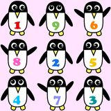 Seamless penguin pattern Royalty Free Stock Images