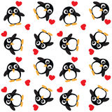 Seamless penguin pattern background Stock Image