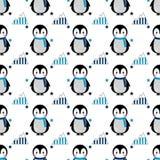 Seamless penguin pattern Stock Photos