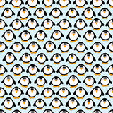 Seamless Penguins Background Stock Images