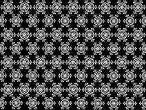 Seamless Pentagons shape snowflakes pattern on background. Christmas seamless pattern from white snowflakes on black background Stock Image