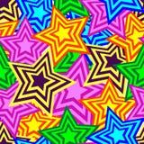 Seamless pentagram background Royalty Free Stock Photo