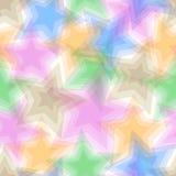 Seamless pentagram pattern Royalty Free Stock Photography
