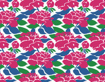 Seamless peony pattern Royalty Free Stock Photography
