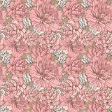 Seamless  peony pattern Royalty Free Stock Image