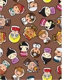 Seamless people pattern Royalty Free Stock Image