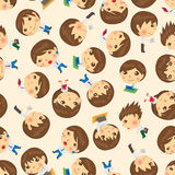 Seamless people pattern Stock Images