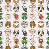 Seamless people pattern Royalty Free Stock Photos
