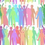 Seamless people pattern. illustration Royalty Free Stock Image