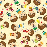 Seamless people play music  pattern Royalty Free Stock Images