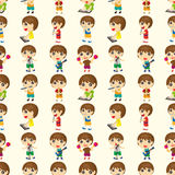 Seamless people play music pattern Stock Photo