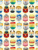 Seamless people worker pattern Royalty Free Stock Images