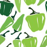 Seamless pepper pattern Royalty Free Stock Photos