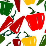 Seamless pepper pattern Royalty Free Stock Photo