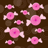 Seamless Peppermint Candy Background Stock Photos