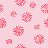 Seamless Peppermint Candy Background Royalty Free Stock Images