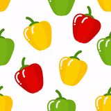 Seamless peppers pattern royalty free illustration