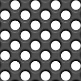 Seamless perforated surface Stock Photo