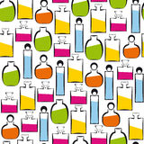 Seamless perfumery pattern Stock Photography