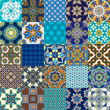 Seamless Persian tile collection Stock Photo