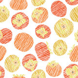 Seamless persimmon pattern. Fruit background. Royalty Free Stock Photography