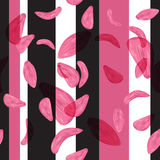 Seamless petals flowers pattern and geometric composition background vector Stock Photography