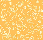 Seamless pets pattern Stock Photography