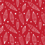 Seamless pettern with Christmas decorations. Seamless red pettern with Christmas decorations Royalty Free Stock Photography
