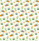 Seamless photo cameras pattern  on white Royalty Free Stock Images