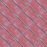 Seamless photo texture of wooden logs with red oil. Abstract seamless pattern for designers with wooden red paint stain plank stock photography