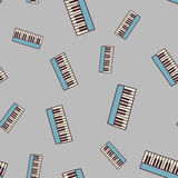 Seamless piano pattern Royalty Free Stock Photography