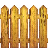 Seamless picket fence Stock Photo