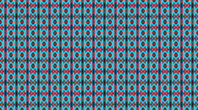 Seamless pictured pattern. Red and blue. Colored repeating tribal template Royalty Free Stock Image
