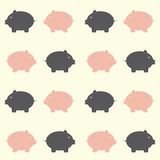 Seamless Piggy Pattern Stock Images