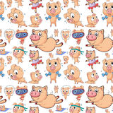Seamless pigs Royalty Free Stock Image