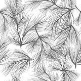 Seamless pine pattern Royalty Free Stock Images