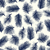 Seamless pine-tree background pattern Stock Images