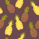 Seamless pineapple Stock Photography