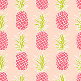 Seamless Pineapple Pattern Royalty Free Stock Images