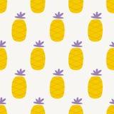 Seamless pineapple pattern Royalty Free Stock Photo