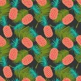 Seamless pineapple pattern Stock Photo