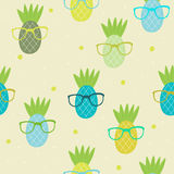 Seamless pineapple pattern vector illustration Royalty Free Stock Photo