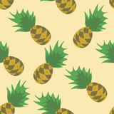 Seamless Pineapples Pattern Stock Photos