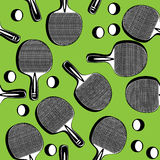 Seamless ping pong tennis racket Royalty Free Stock Photo