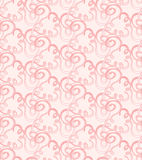 Seamless  pink abstract pattern with swirls Stock Photos
